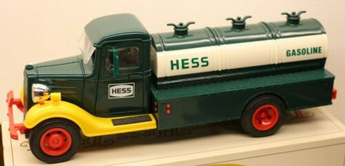 The First Hess Truck Gasoline Tanker Truck With Battery Operated Lights in Box