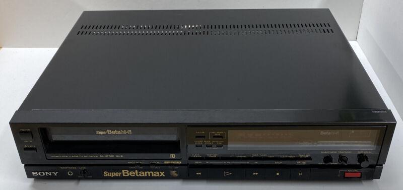 SONY SL-HF360 HI FI SUPER BETAMAX PLAYER RECORDER Tested *See Description*