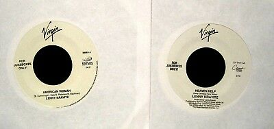 Lot Of Two Lenny Kravitz 45S On Virgin Records Nm Jukeboxes Only
