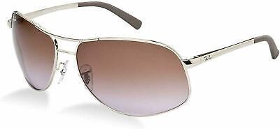 Ray Ban RB3387 003/68 64MM Sunglasses Silver/ Purple Violet Lens  (Purple Ray Ban Aviators)