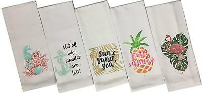 Set of 4, 100% Cotton Funny Quote