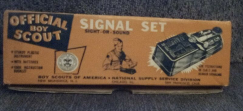vintage Official Boy Scout Signal Set