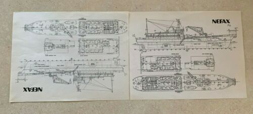 Vintage Nefax Nippon Electrical Cable Installation on Ships Blueprint Diagrams