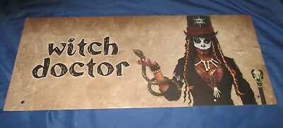 SPIRIT HALLOWEEN Store Exclusive Display Sign WITCH DOCTOR Shrunken Head](Halloween Store Displays)