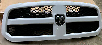 White DODGE RAM 1500 UPPER GRILLE OEM 2013 2014 2015 2016 2017 2018 2019