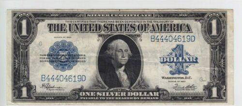 1923 $1 Silver Certificate Note Horse Blanket FR#237 B44404619D