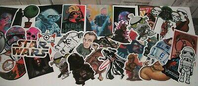 Star Wars Vader Droids Stormtrooper Vinyl Stickers x 15 RANDOM