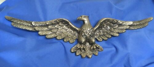 Vintage Brass Eagle Plaque Wall Hanging 36""