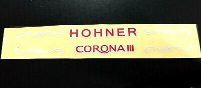 HOHNER  PARTS LOGO HOHNER AND CORONA III STICKER LETTERS