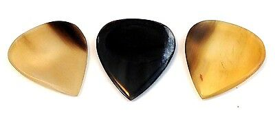Clayton Guitar Picks  Exotic Series  Horn  3 Pack