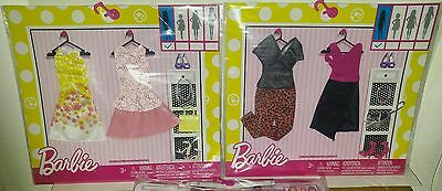 """BARBIE """"2-COMPLETE LOOK FASHION 2-PACK'S LOT""""- NEW & LOW$$-FREE SHIPPING!!"""