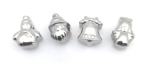 European Bracelet Christmas Beads Wholesale Lots 4 pcs Stainless Steel Silver