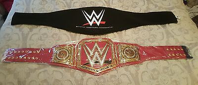 WWE UNIVERSAL TITLE CHAMPIONSHIP BELT. AUTHENTIC. CARRYING CLOTH! FLASH SALE!!