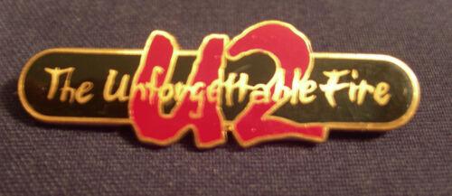 U2 THE UNFORGETTABLE FIRE CONCERT TOUR BADGE BUTTON 1984