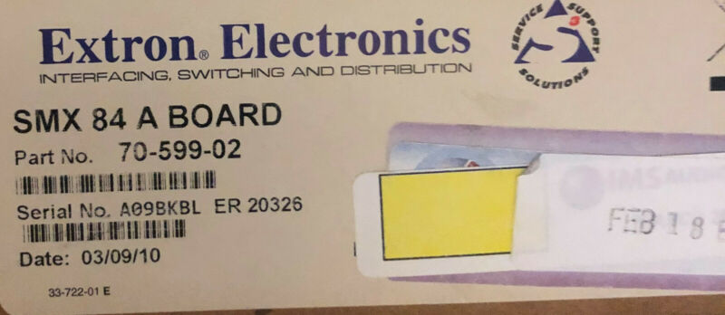 extron SMX 84 A Board Stereo Audio Matrix Switcher Boards