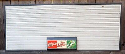 """Vintage COCA COLA Plastic Menu Board by Ridan Displays 48"""" x 20""""."""
