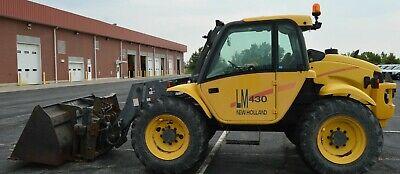 Telehandler New Holland Forklift Lm 430 4x4 Cab Quick Attach