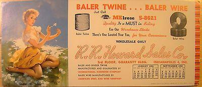 Vintage Original Pin Up Kalender Löschblatt Elvgren 1956 Daisies Sind Sagen Garn (Vintage Pin-up-kalender)