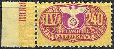GERMANY WW2 INVALIDES SWASTIKA EAGLE 1942 MNH DM2.40