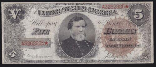 US 1890 $5 Treasury Note FR 359 Ornate Back VF (825)