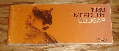 Original 1980 Mercury Cougar Owners Operators Manual (1980 Mercury Cougar)