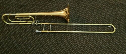 YAMAHA YSL-356G F/ TRIGGER TROMBONE. MADE IN JAPAN. IN GOOD CONDITION. NO CASE..