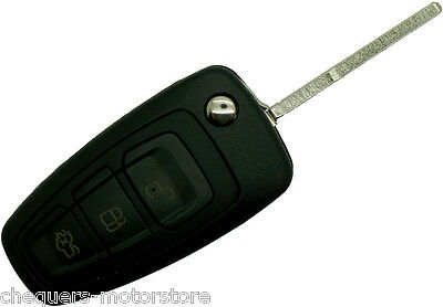 Fits Ford Focus S Max Fiesta Replacement 3 Button Fob Remote Key Case repair