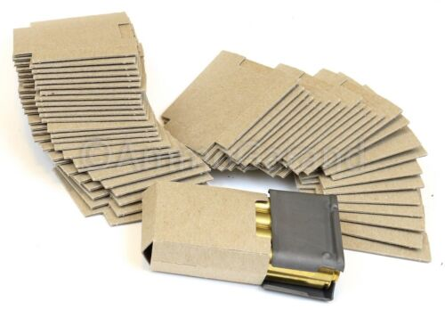 50ea  M1 Garand 8rd Enbloc Clip Cardboard Bandoleer Inserts for 30-06/308 Clips