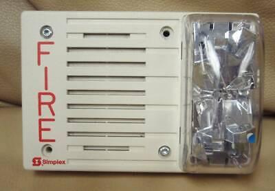 Simplex Fire Alarm Horn Strobe 4903-9242 Used 30cd White