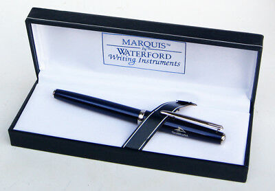 Waterford Marquis CLARIA Blue Lacquer Fountain Pen SEAWORLD Employee Award