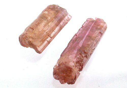 12.62 Gram Two Natural  Brazilian Pumpkin Tourmaline Specimen Crystal Gem ES8989