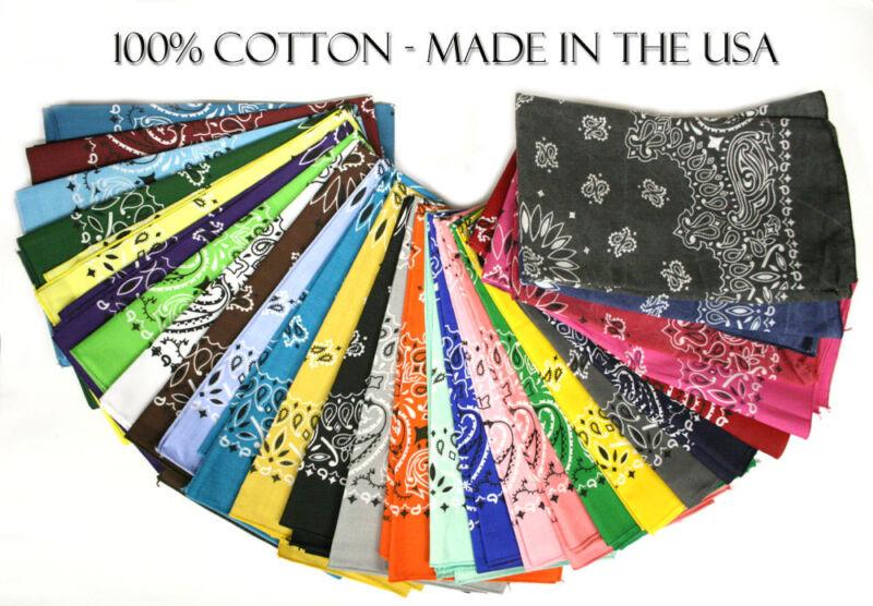 """Hav-A-Hank USA Made 100% Cotton Paisley Bandannas Bandanas 22""""X22"""""""