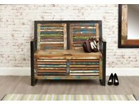 Java Industrial Storage Monk's Bench - Free Delivery