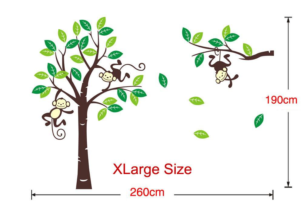 Giraffe Monkey Tree Wall Art Stickers Kids Nursery Vinyl Decal Removable  X/large | EBay Part 97