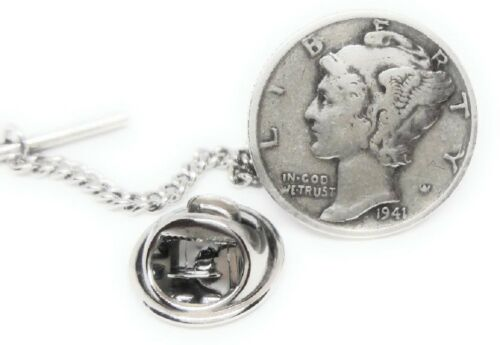 MERCURY DIME TIE TACK / LAPEL PIN MFG DIRECT PRICES