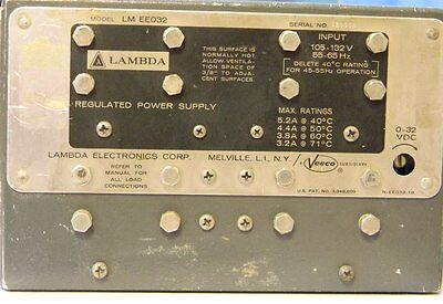 Lambda Lm Ee032 Modular Dc Power Supply 0-32v 5.2a Tested