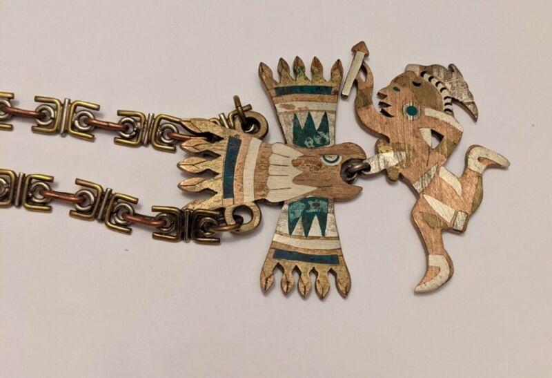 Vintage ALPACA MEXICO Mixed Metal Necklace