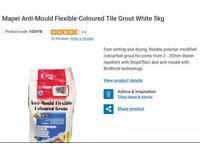 Coloured grout anti mould flexible 5kg bag