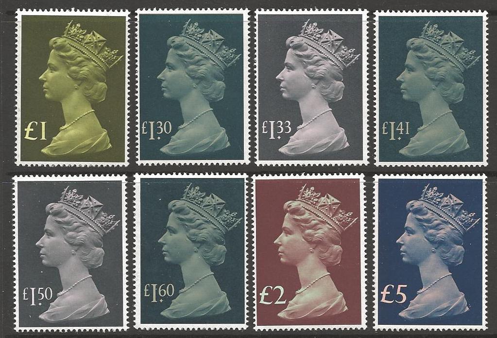 GB SG1026/8 1977-87 HIGH VALUES MNH