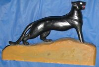 CANADIAN FOLK ART, HAND CARVED, PAINTED, BLACK CAT