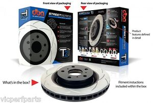 DBA653S DBA T2 Rear Slotted Rotors x 2 to Subaru Impreza WRX MY01 - MY07 290mm
