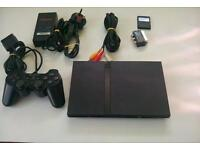 SONY PLAYSTATION 2 SLIMLINE COMPLETE AS SHOWN.****£ 20 ****EXCELLENT CONDITION.