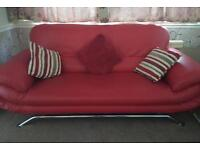 3 seater leather modern sofa