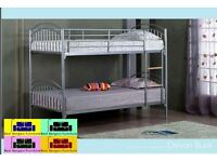 "BEST QUALITY ""METAL BUNK BED ""in stock ,,split in to 2 single beds"
