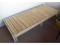 Ikea TARVA day bed frame, makes a chaise longue by day and single or double bed by night