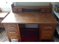 Antique robust wooden desk