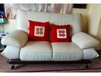 Perfect leather white sofa 7 seater !!!!!!