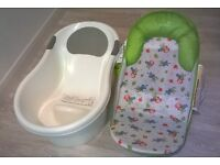 Tippitoes baby bath and Summer bath support