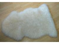 Genuine White Sheepskin Rug - 42 x 30 inches