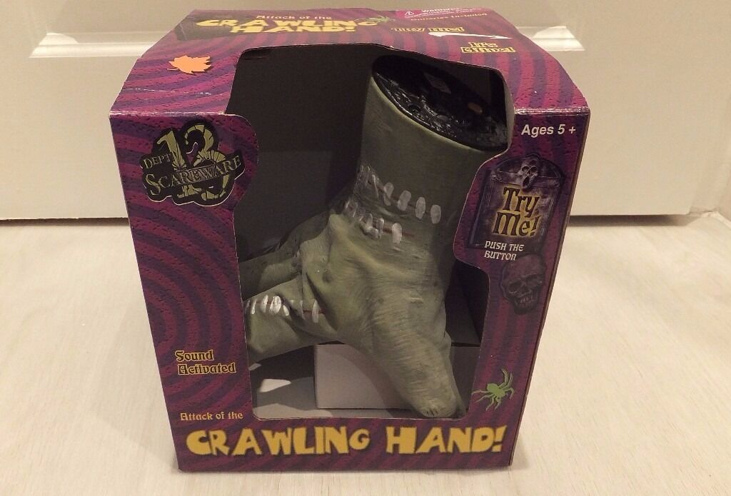 Halloween Party Prop - Crawling Hand - Sound Activated